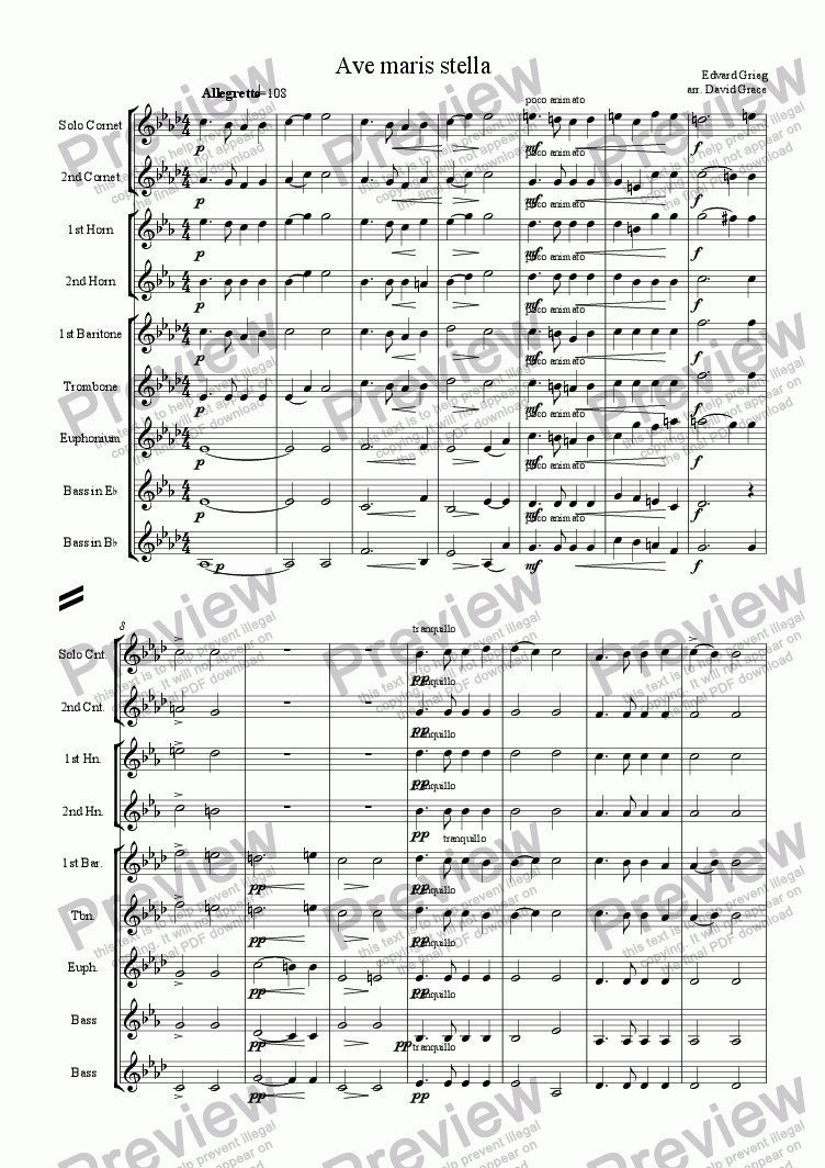 page one of Ave Maris Stella [Grieg]