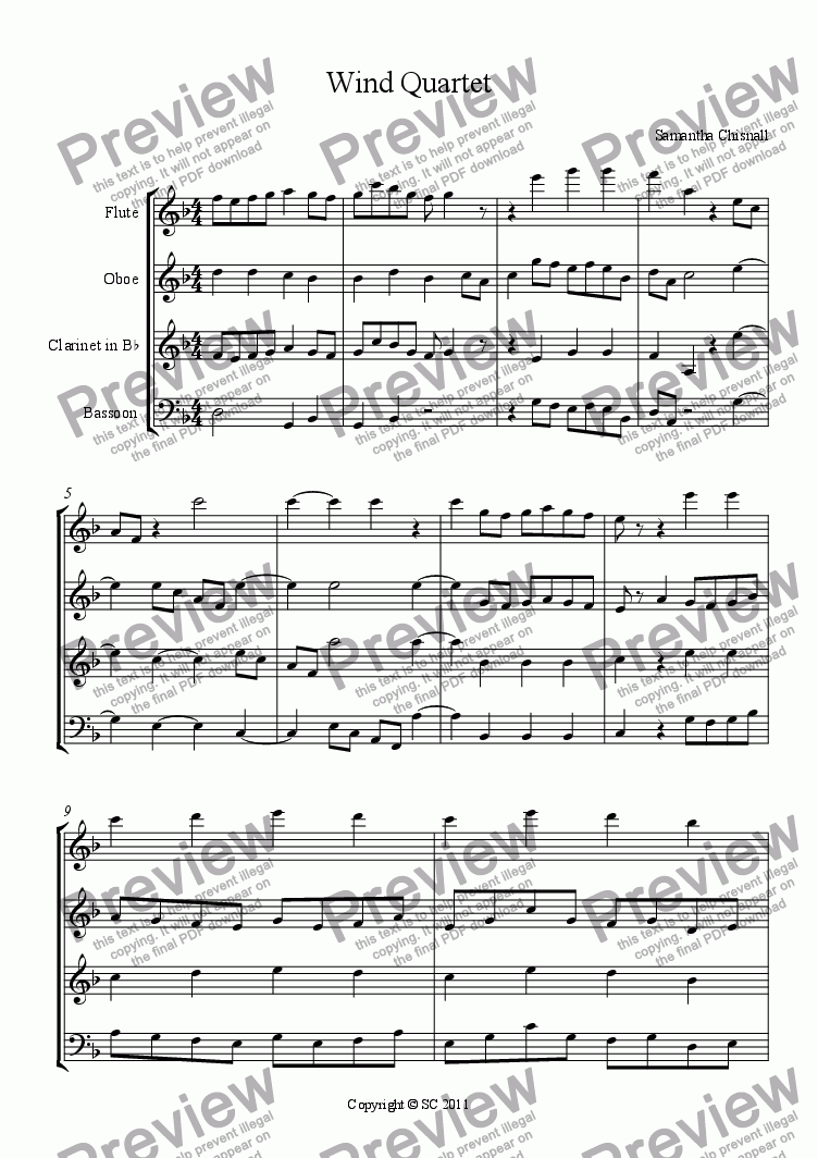 page one of Wind Quartet