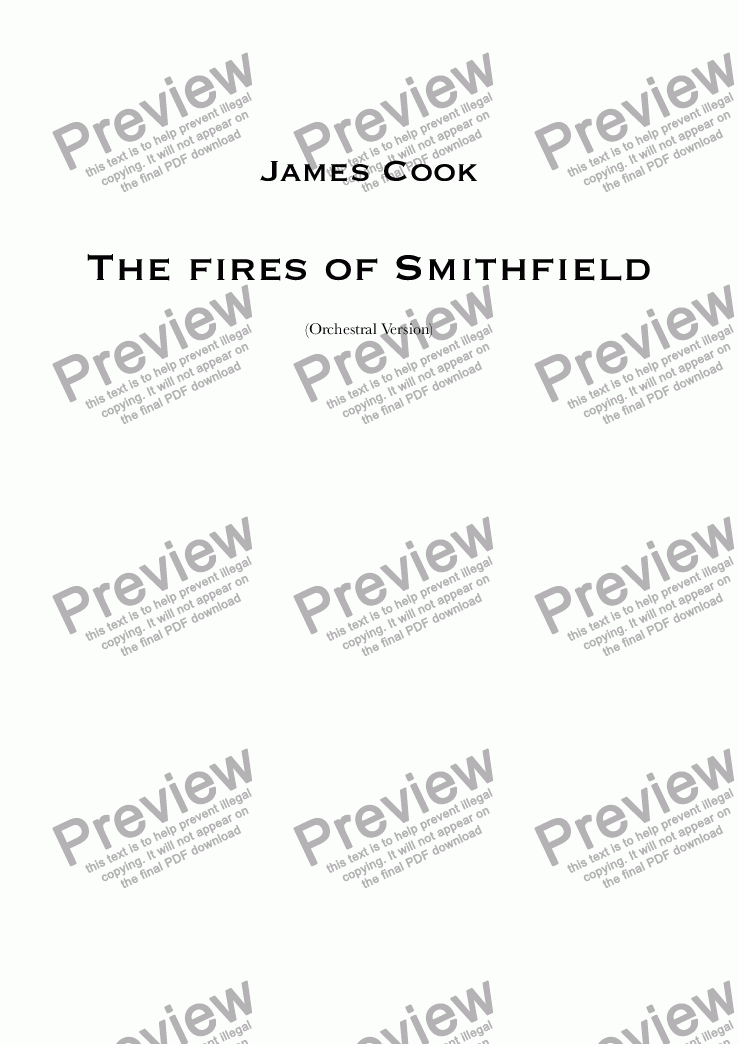 page one of The fires of Smithfield