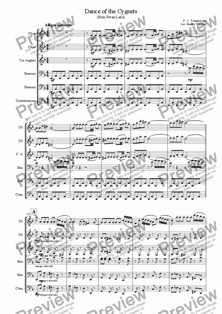 page one of Dance of the Little Swans