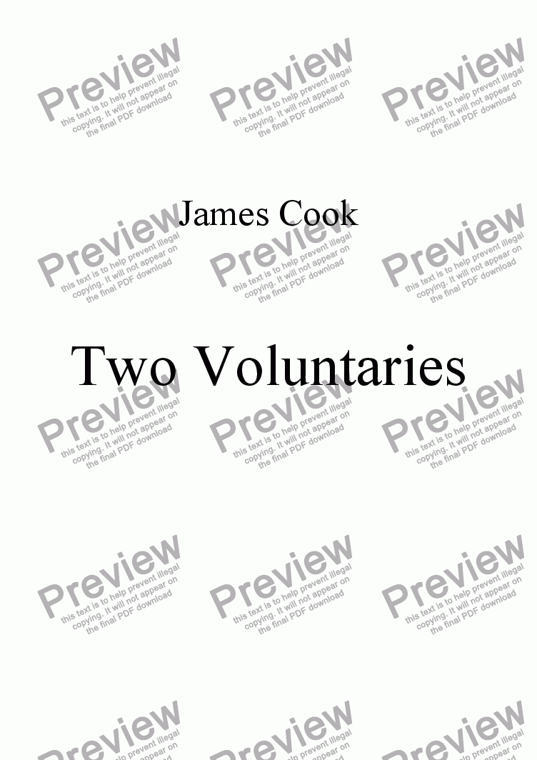 page one of Two Voluntaries