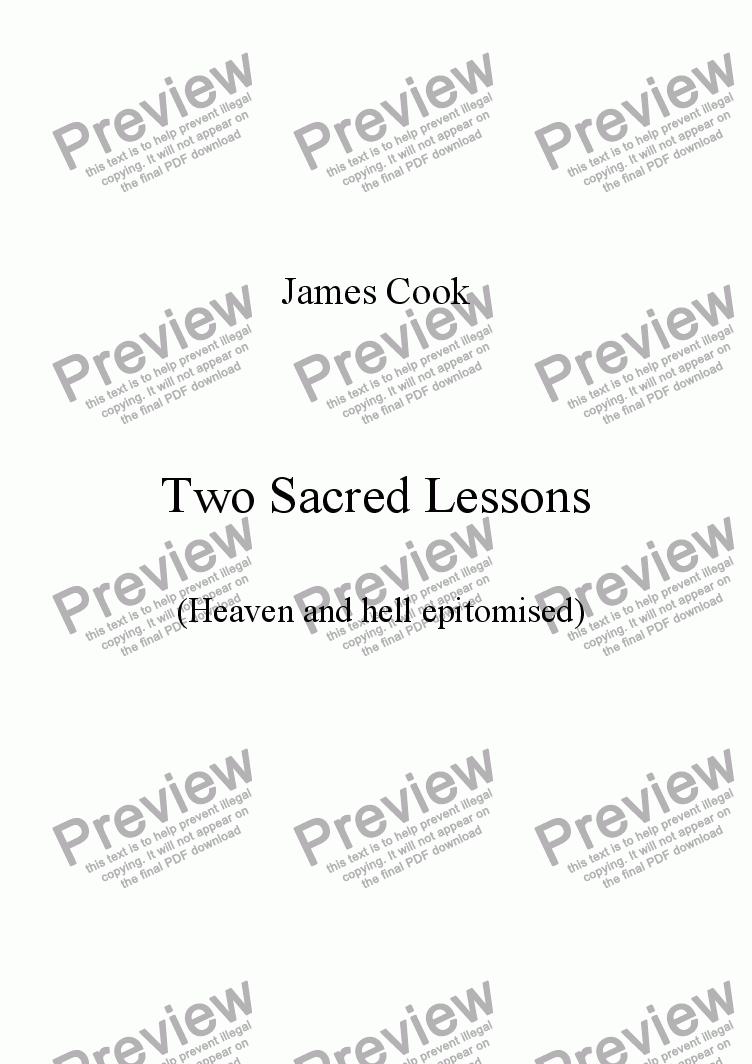 page one of Two Sacred Lessons