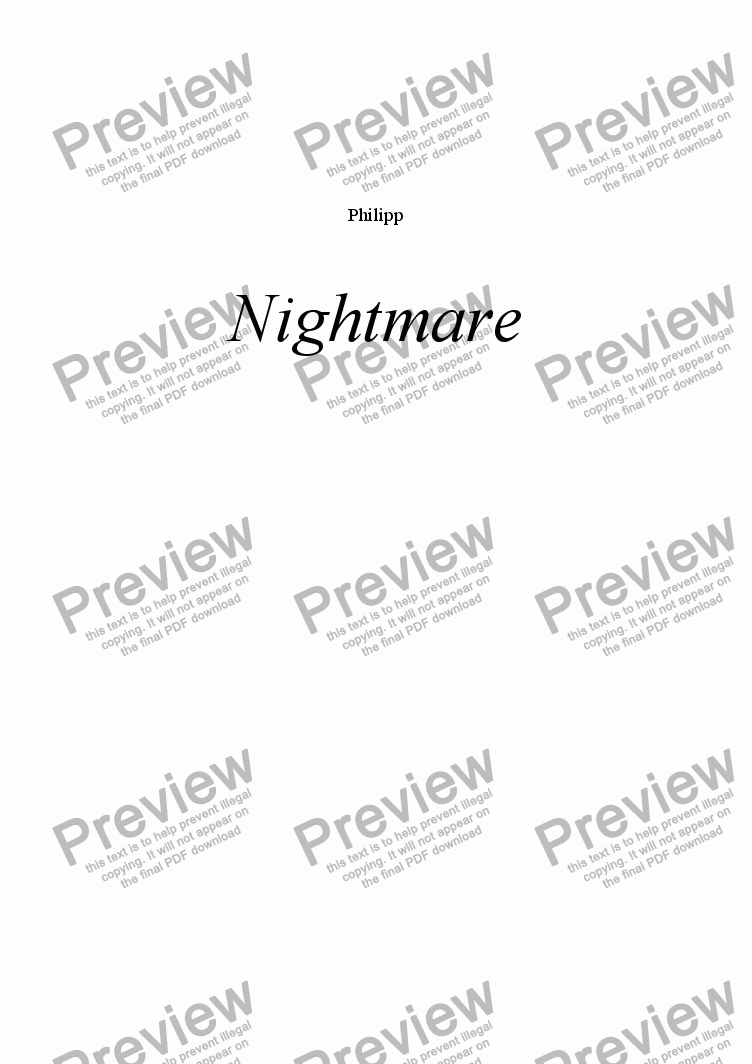 page one of NightmareASALTTEXT
