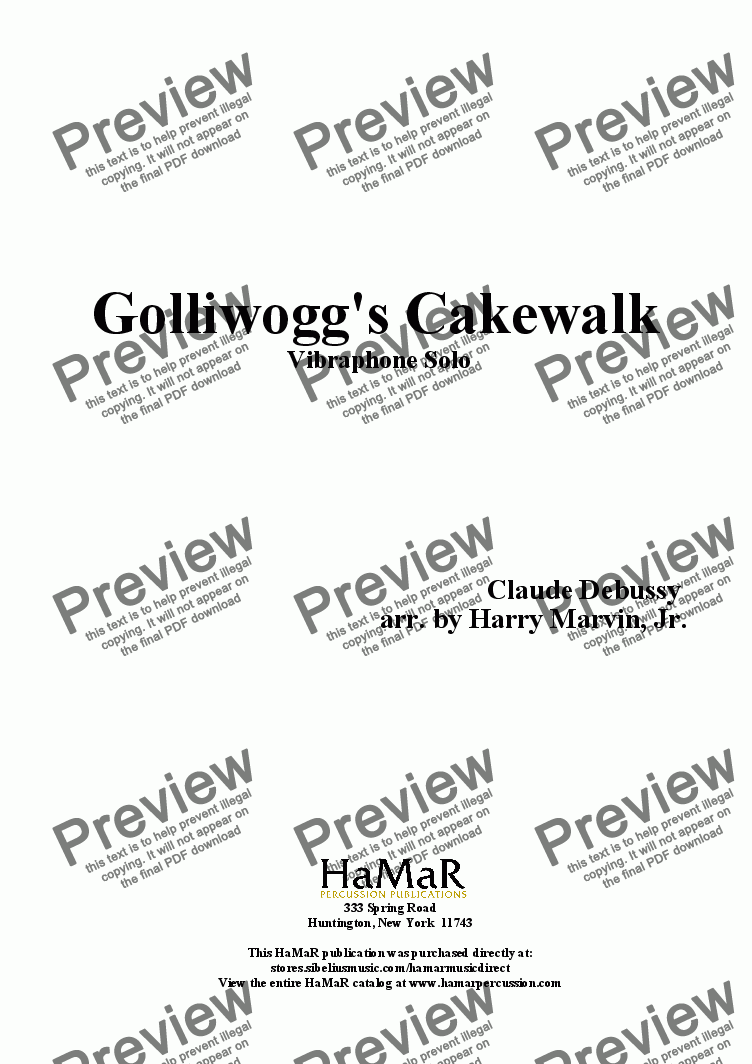 page one of Golliwogg's CakewalkASALTTEXT