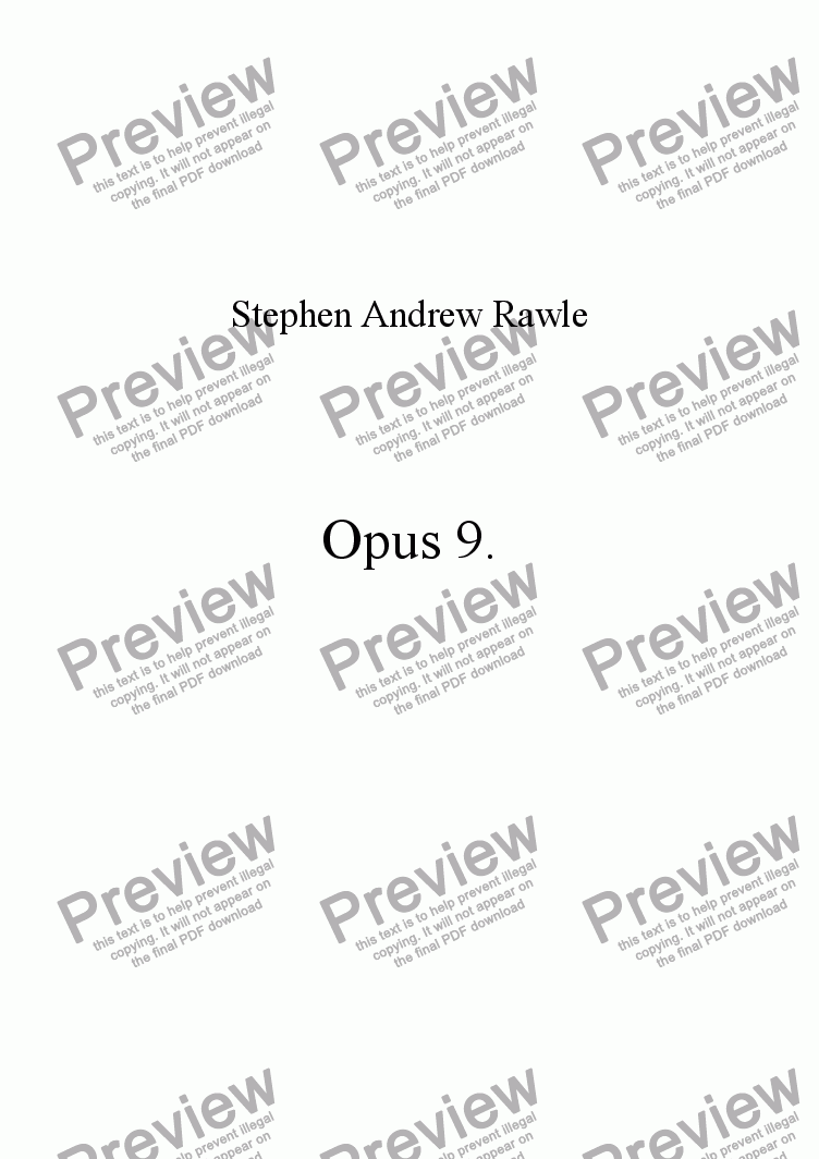 page one of Opus 9, for piano.