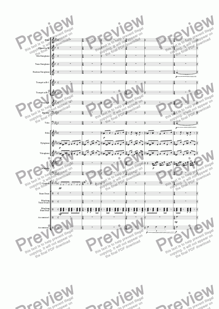 page one of Custom Marching Closer