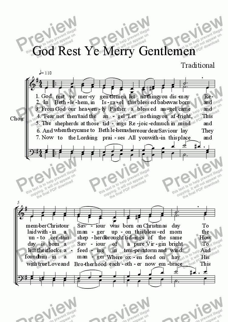 page one of God Rest Ye Merry GentlemenASALTTEXT