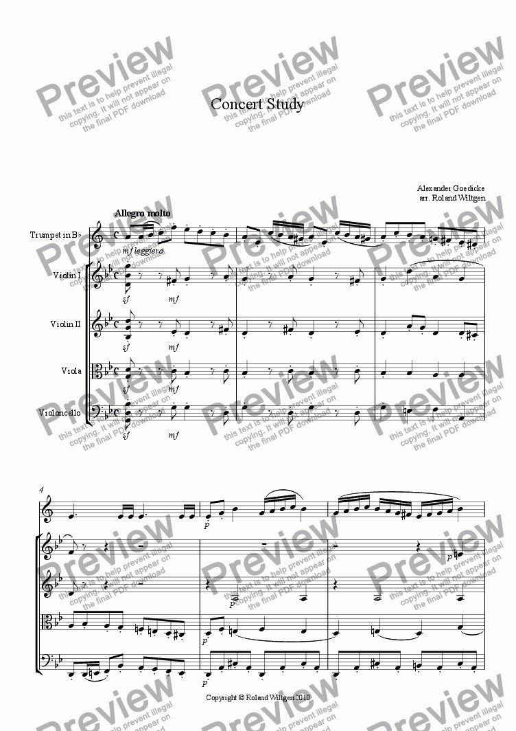 page one of Concert Study