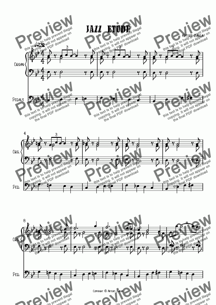 page one of Jazz Etude