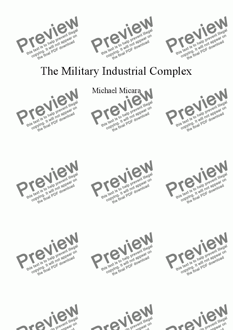 page one of The Military Industrial Complex