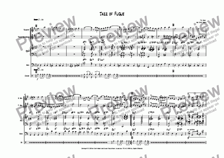 page one of Jazz of Fugue