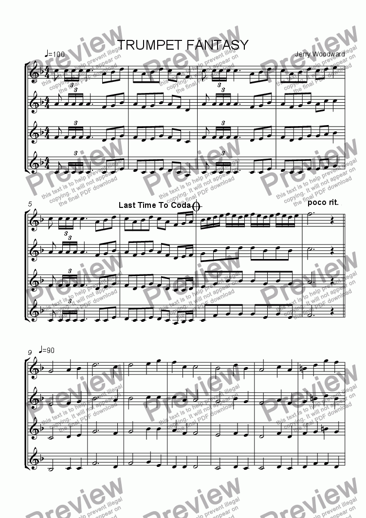 page one of TRUMPET FANTASY