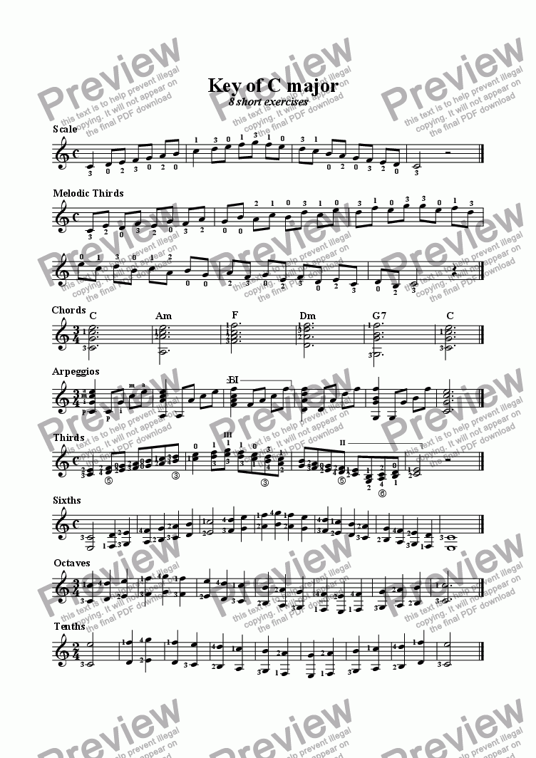 page one of Key of C major