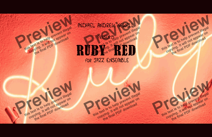 page one of Ruby Red (Big Band)