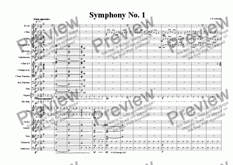 page one of 1st move. Symphony No.1ASALTTEXT