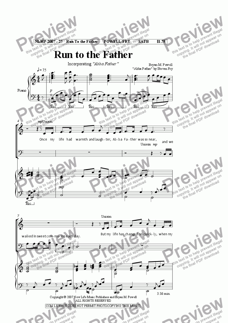 page one of Run to the Father