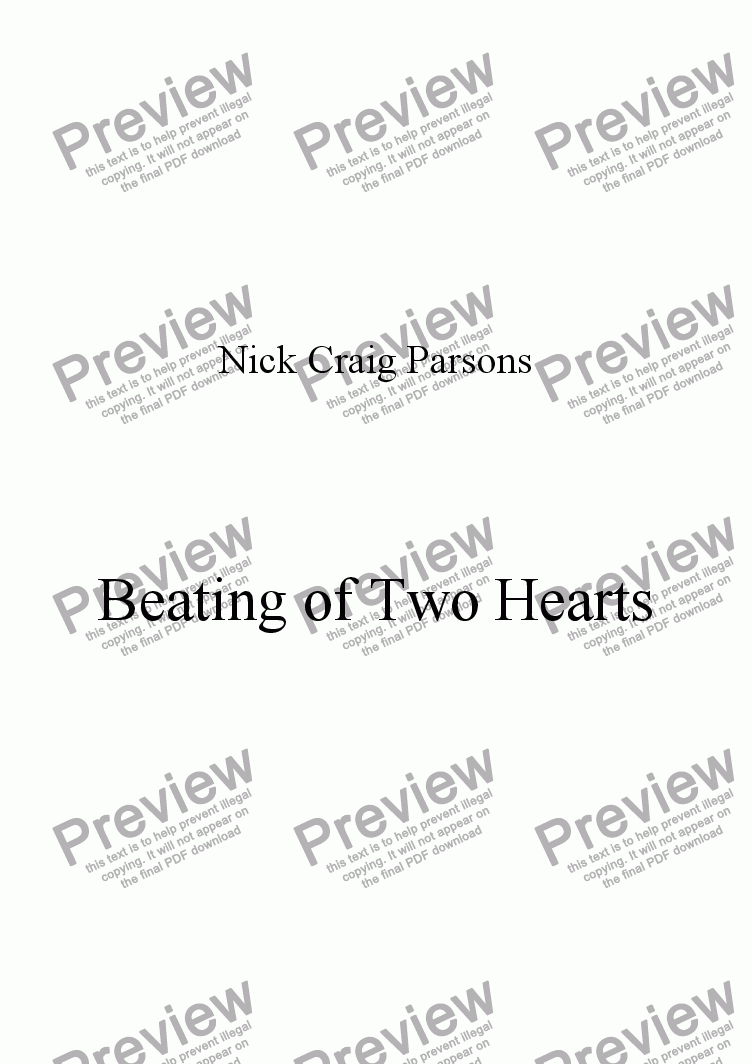 page one of Beating of Two Hearts