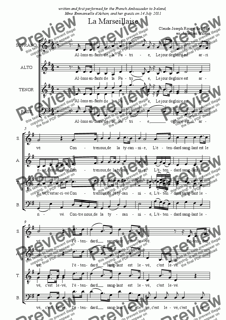 page one of La Marseillaise