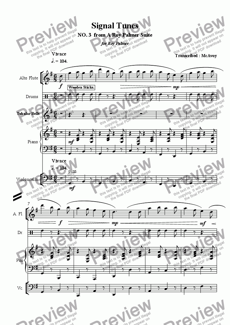 page one of Signal TunesASALTTEXT