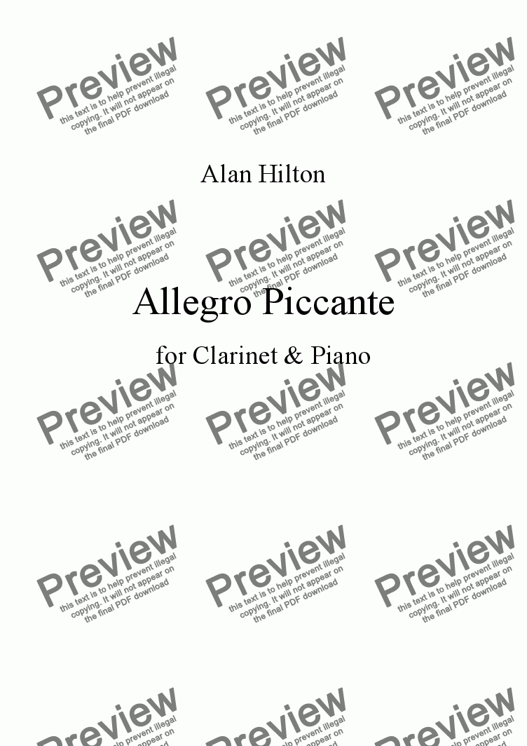 page one of Allegro Piccante