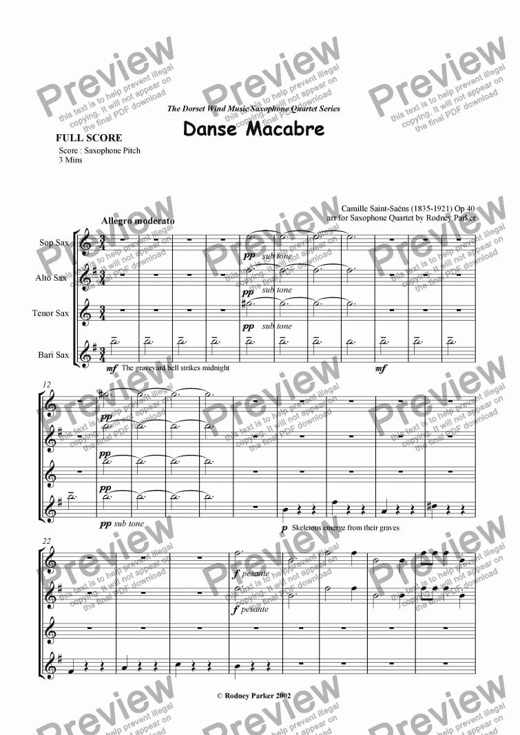 danse macabre violin sheet music pdf