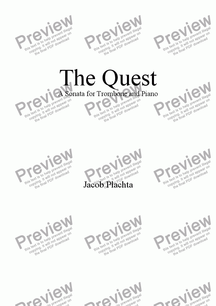 page one of The Quest