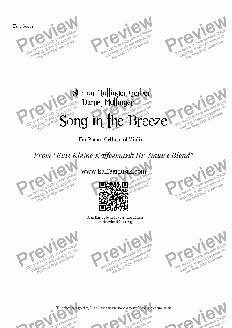 page one of Song in the Breeze