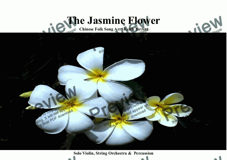 page one of  Jasmine Flower (The) for String Orchestra