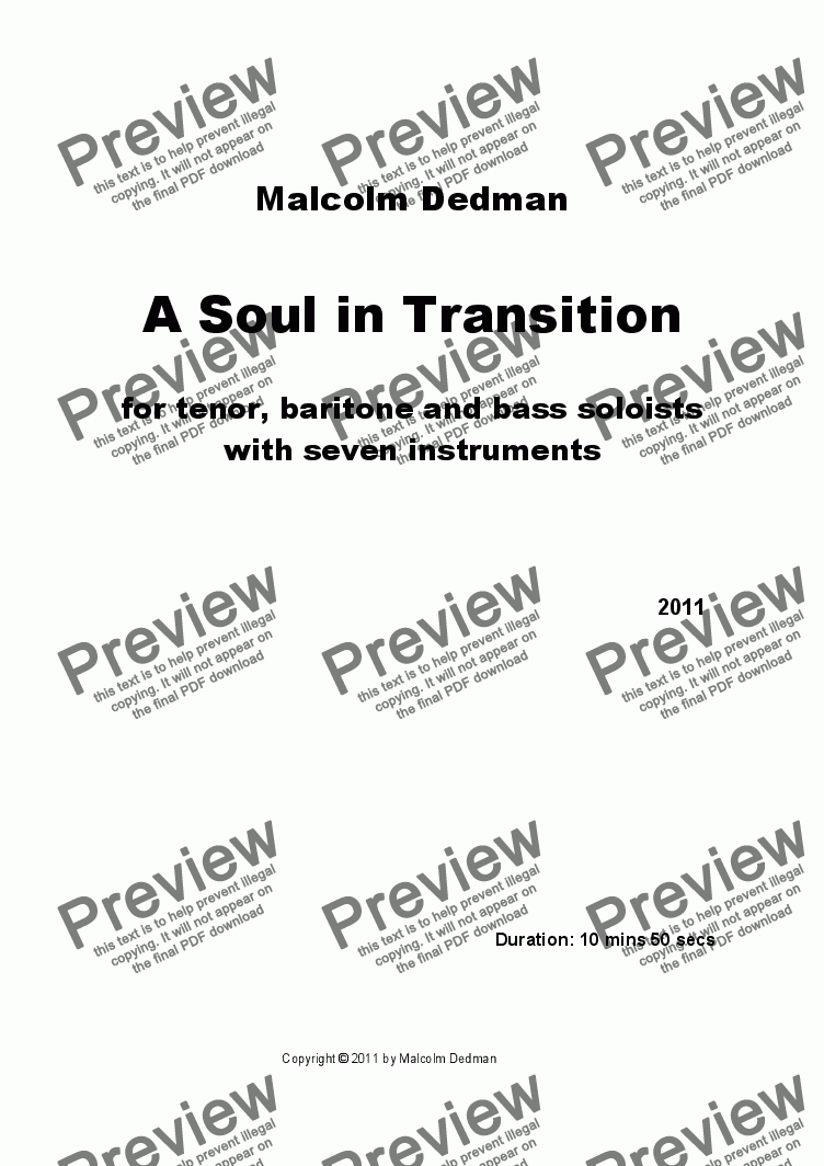 page one of A Soul in Transition
