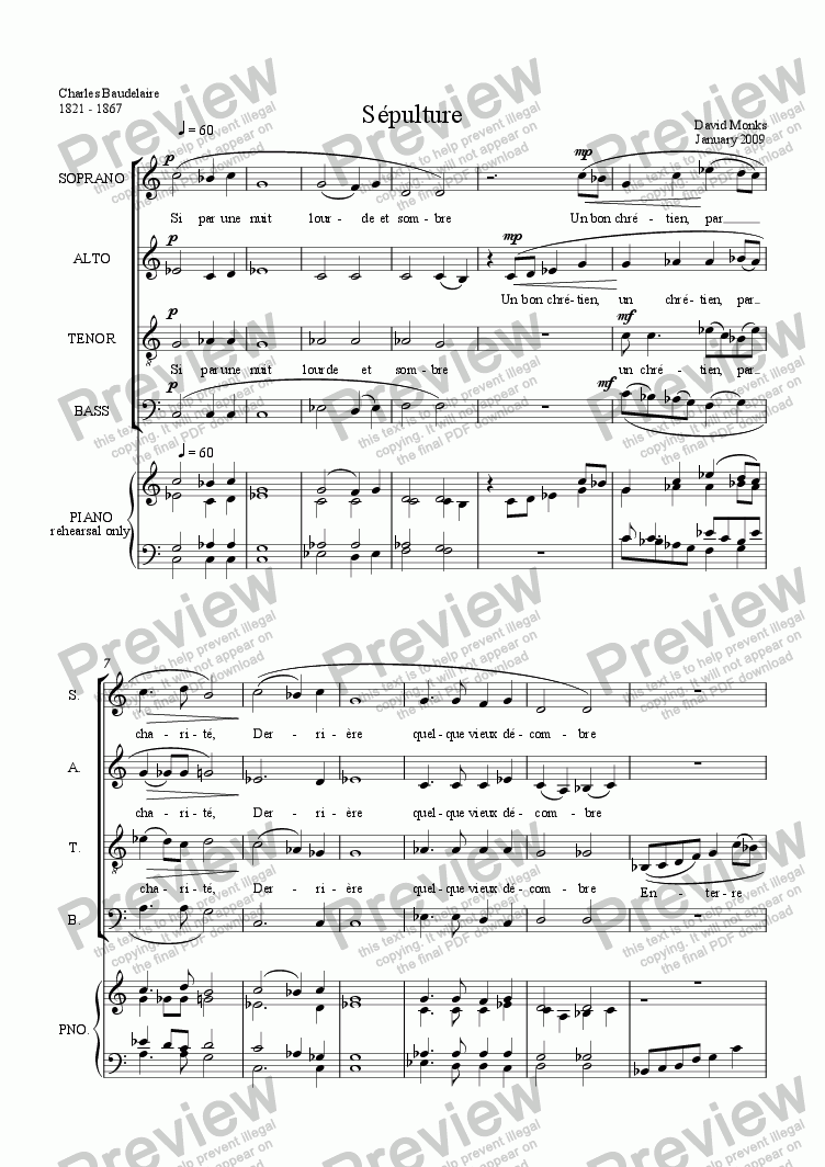 page one of Sépulture