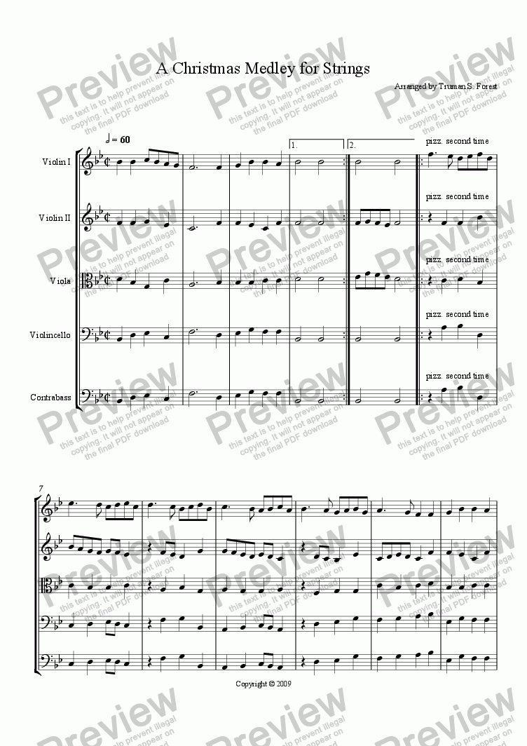 page one of A Christmas Medley for StringsASALTTEXT