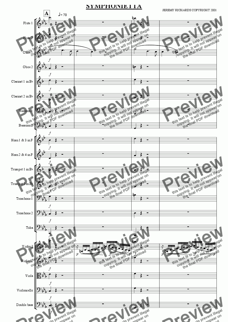 page one of Symphonietta 2