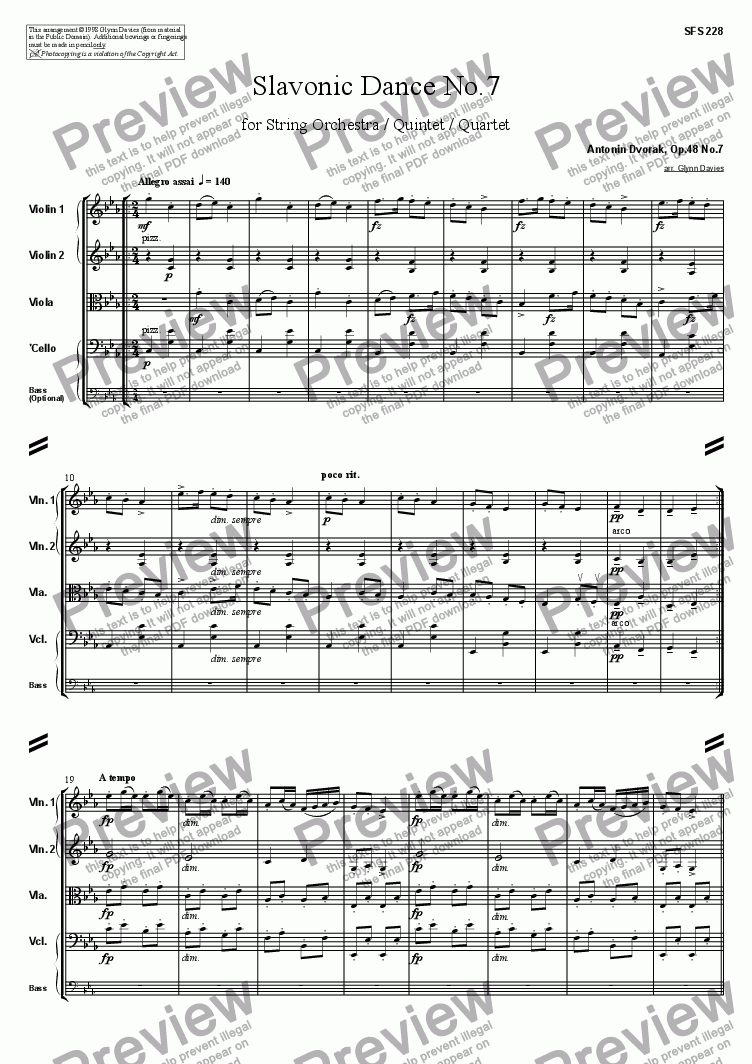 page one of Slavonic Dance, Op.46 No.7ASALTTEXT