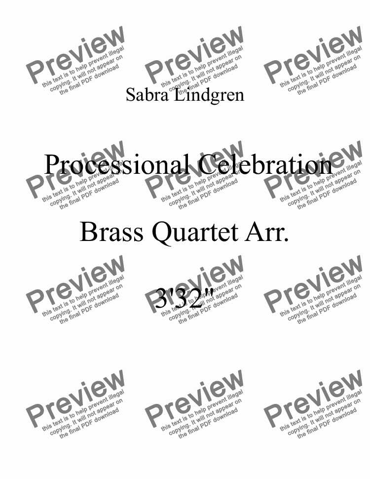 page one of Wedding or Graduation: Processional Celebration