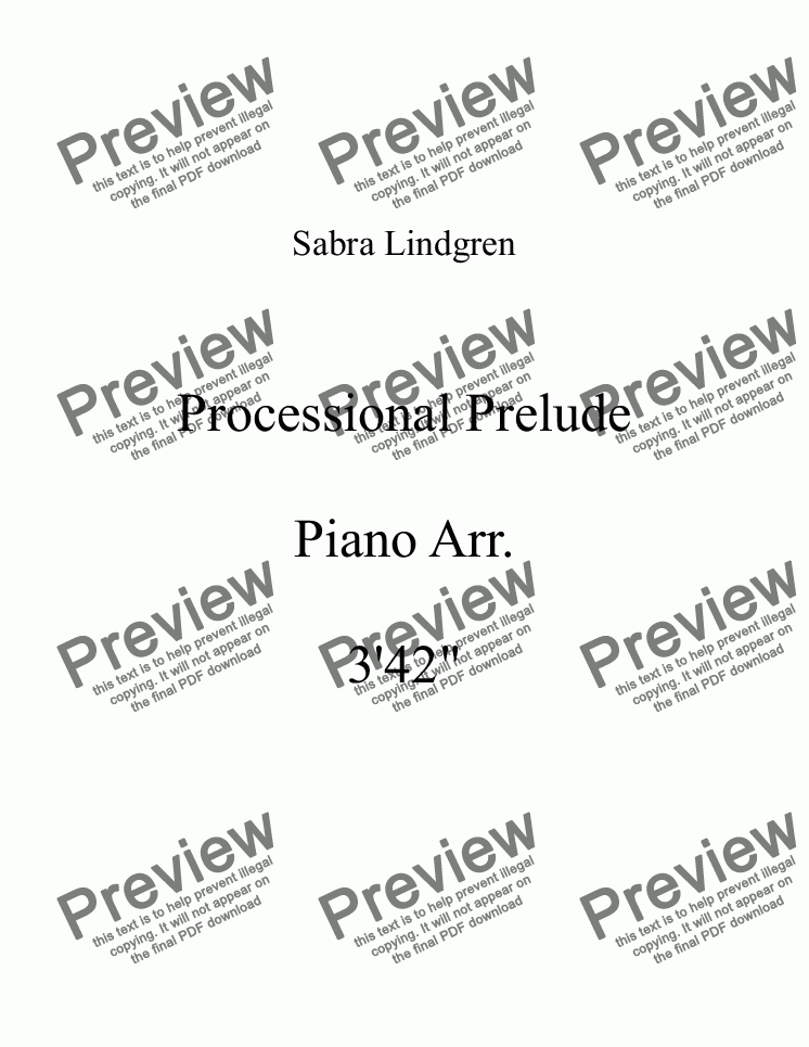 page one of Wedding or Graduation: Processional Prelude