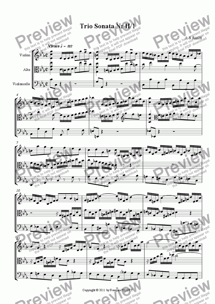 page one of Trio Sonata Nr II/1