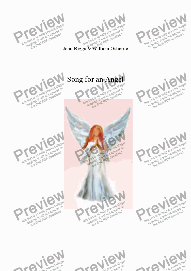 page one of Song for an Angel