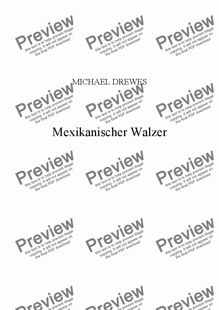 page one of Mexikanischer Walzer (Mexican Waltz)ASALTTEXT