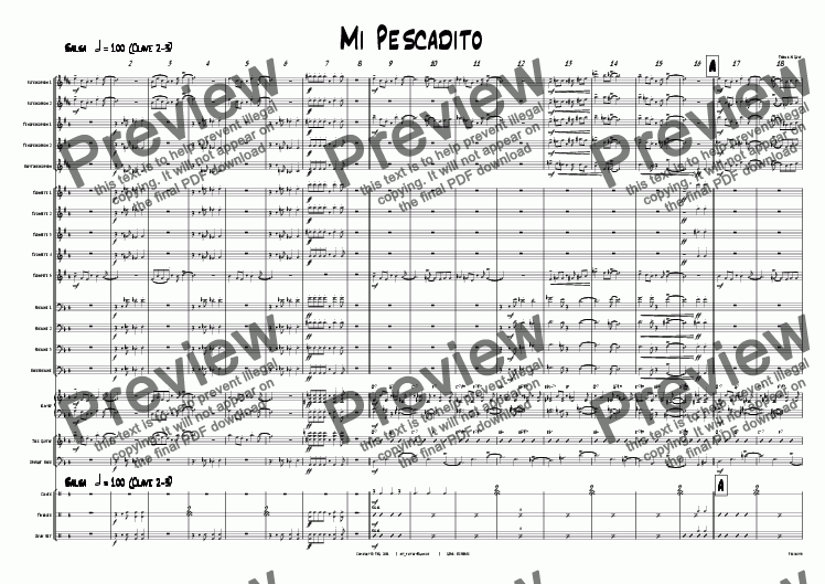 page one of Mi Pescadito - Salsa - Big Band