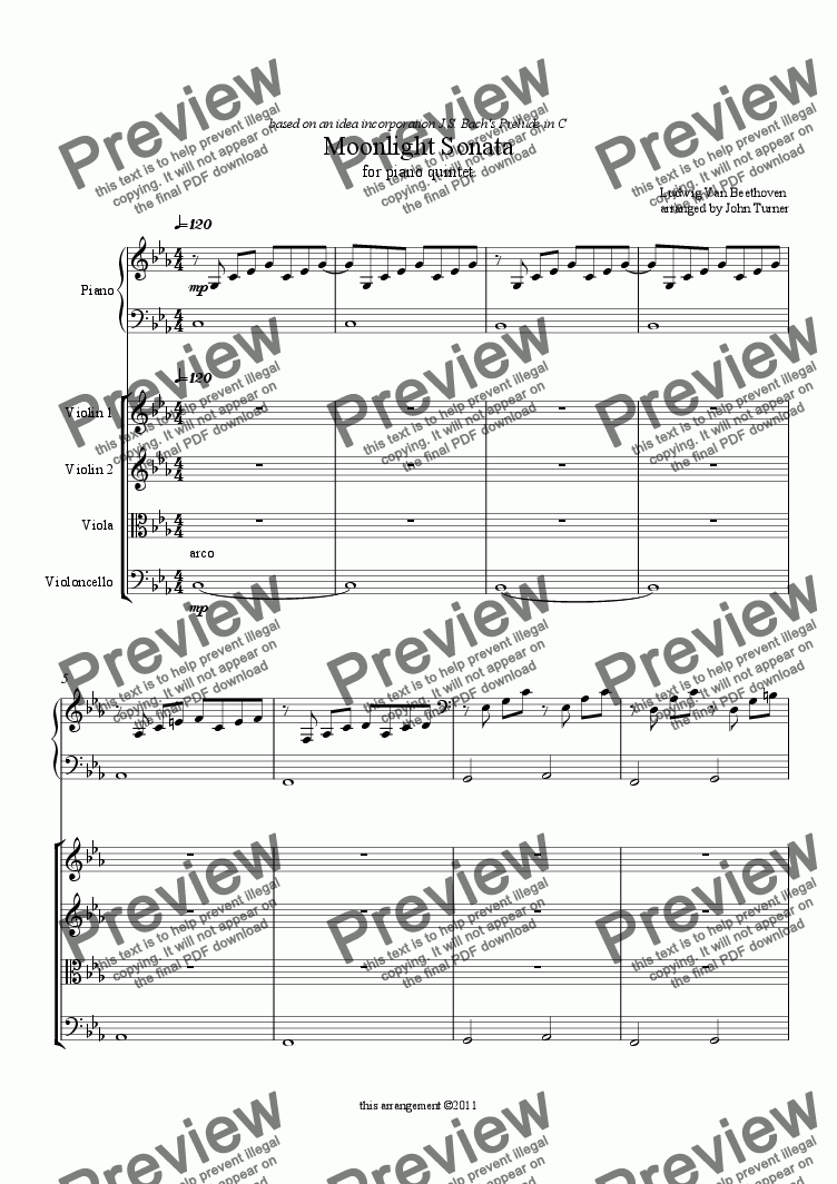 page one of Moonlight Sonata