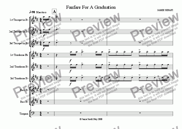 page one of Fanfare for a Graduation
