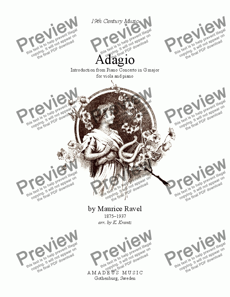 page one of Adagio assai for viola and pianoASALTTEXT