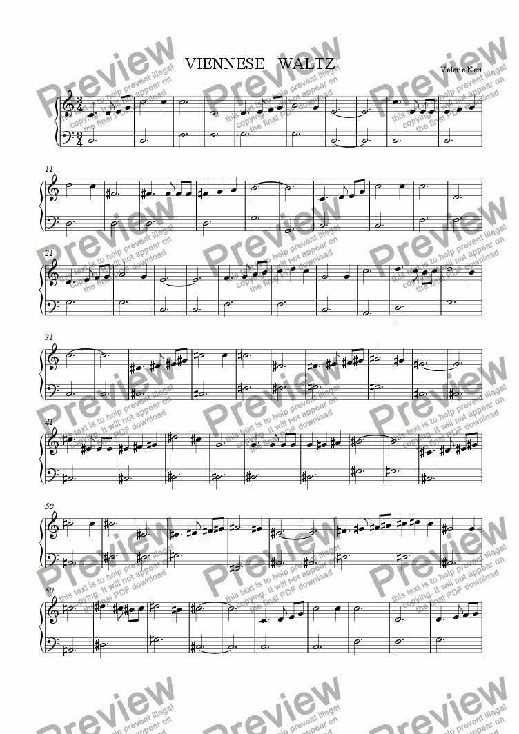 page one of VIENNESE   WALTZ