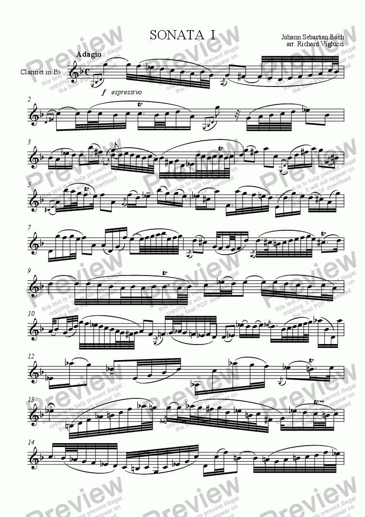 page one of Sonata No. 1