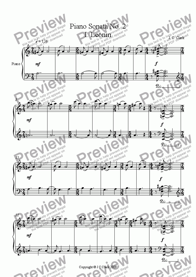 page one of String Quartet No. 2