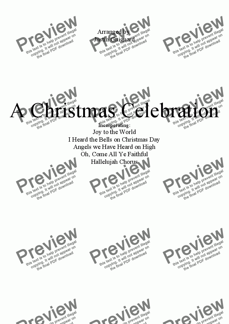 page one of A Christmas Celebration