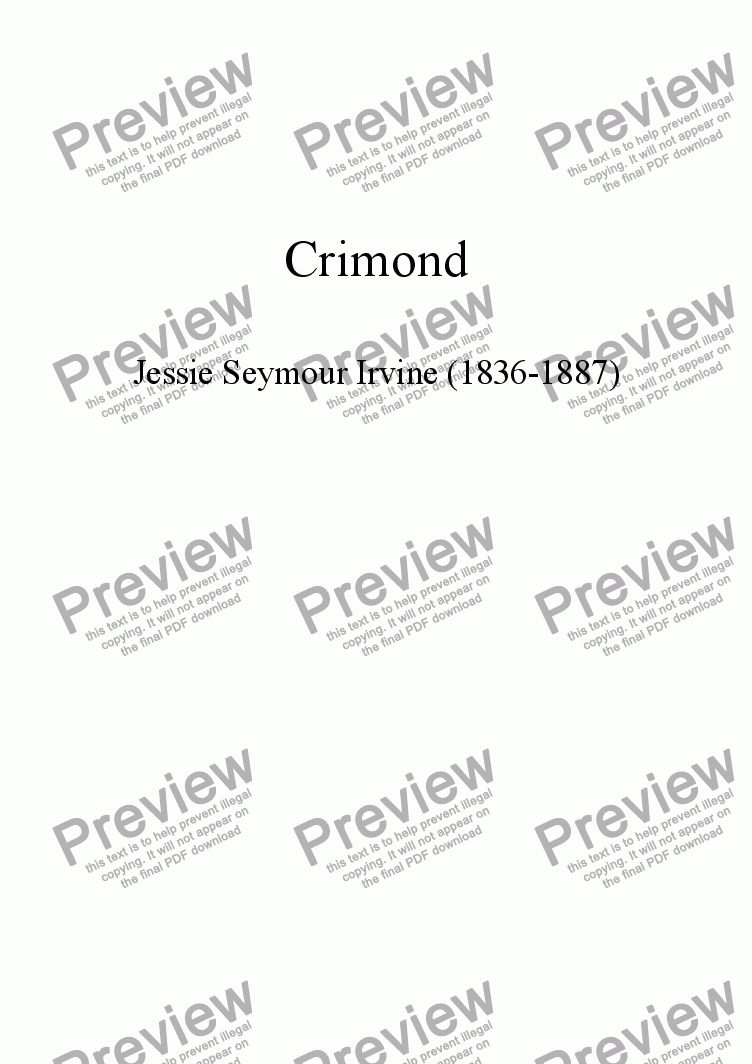 page one of Crimond - 7.7.7.7.7.7.7.7. (includes descant)ASALTTEXT