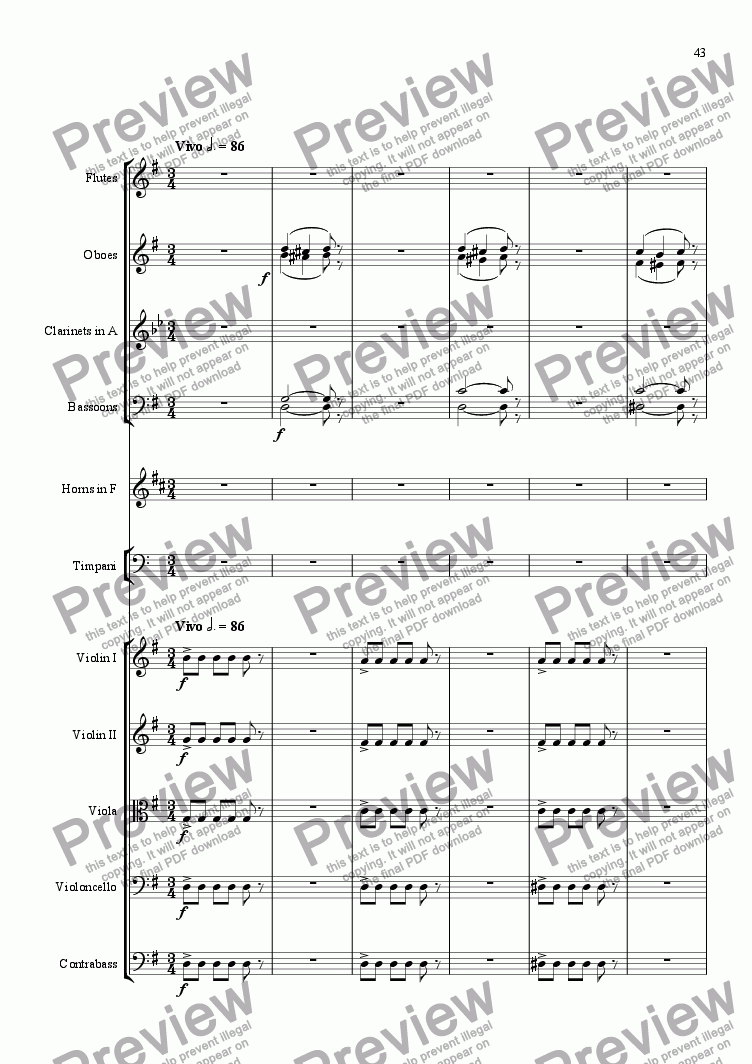 page one of Symphony No. 5 - Movt 3