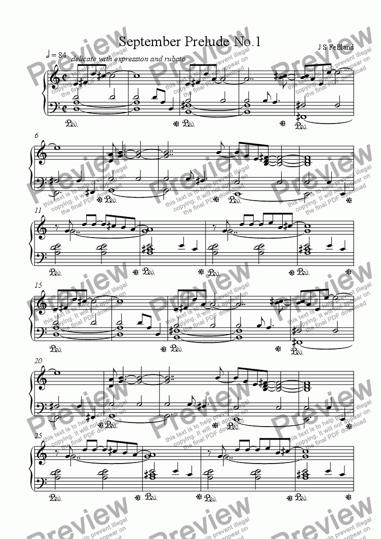 page one of September Prelude No.1