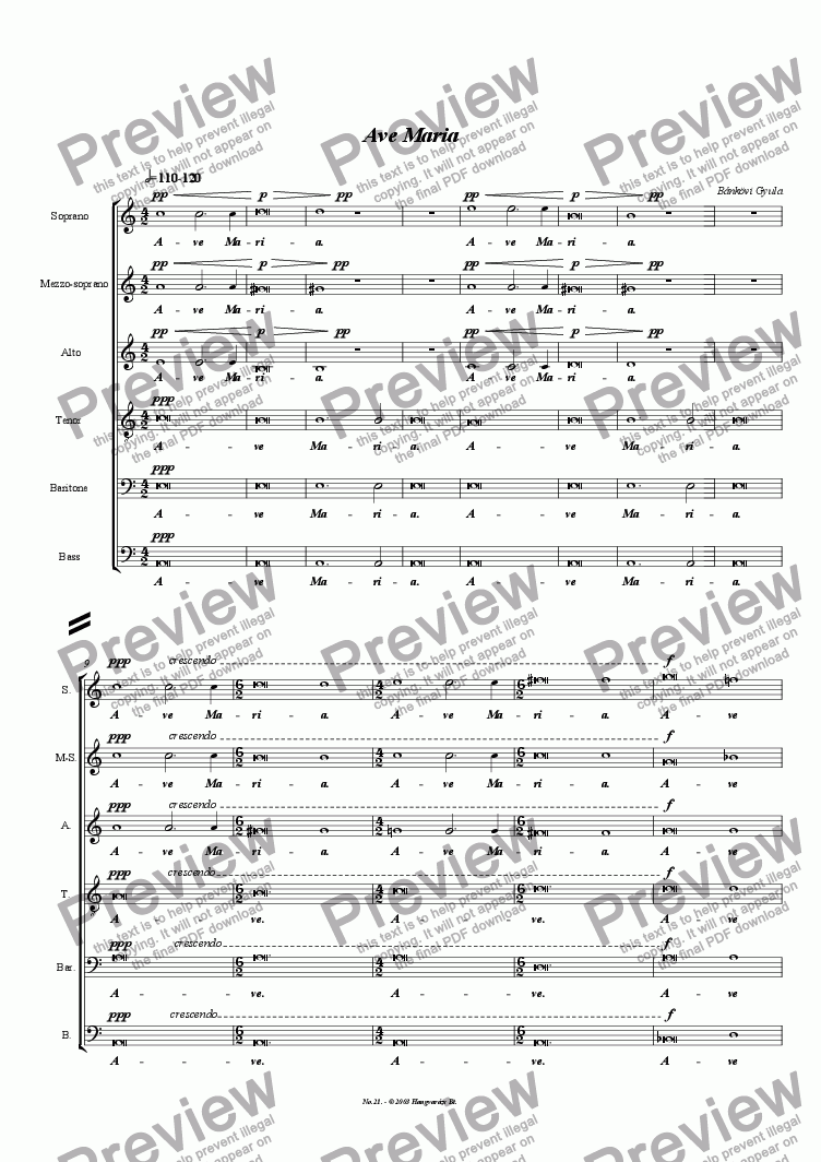 page one of Ave Maria No. 1.